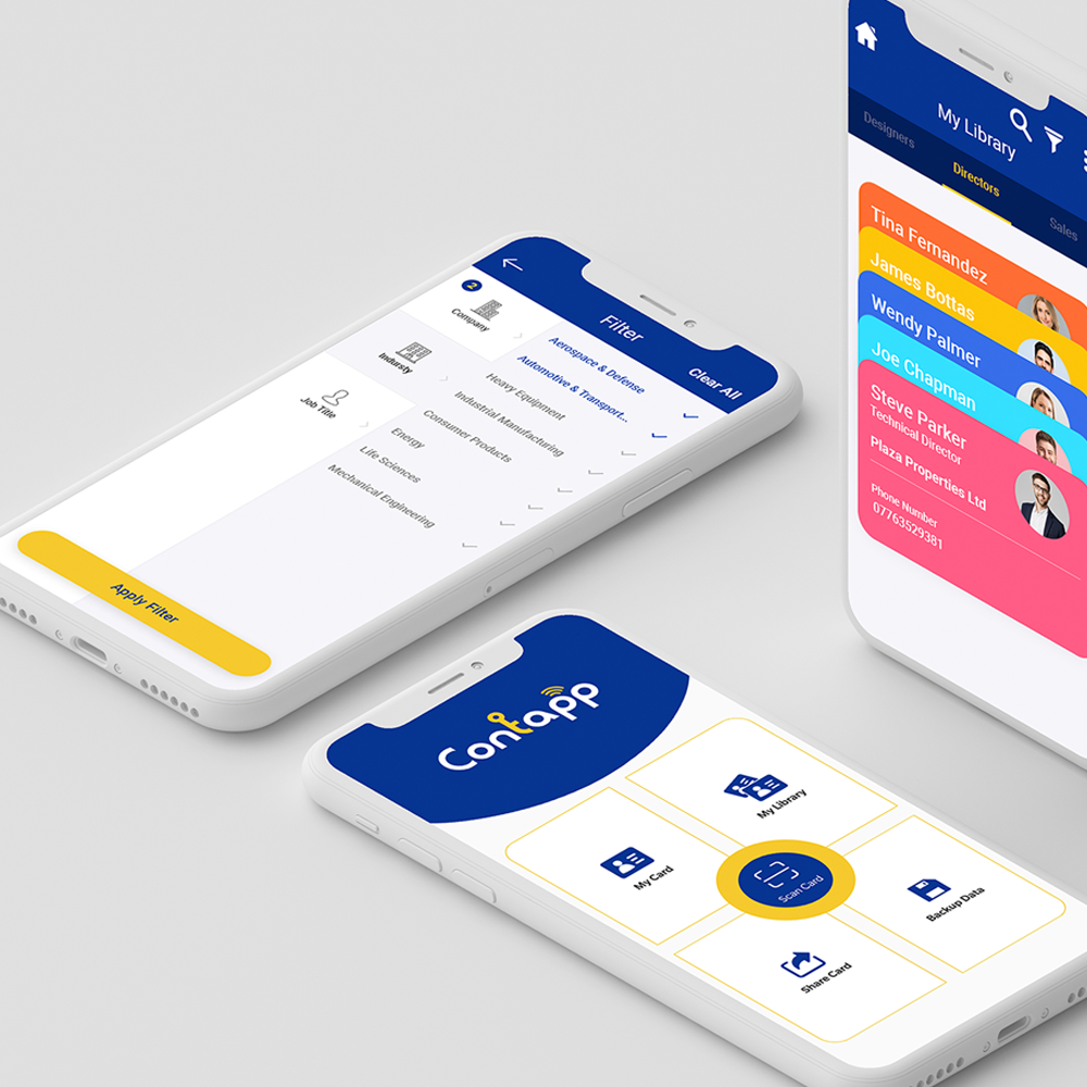 contapp mobile app user-friendly interface and display