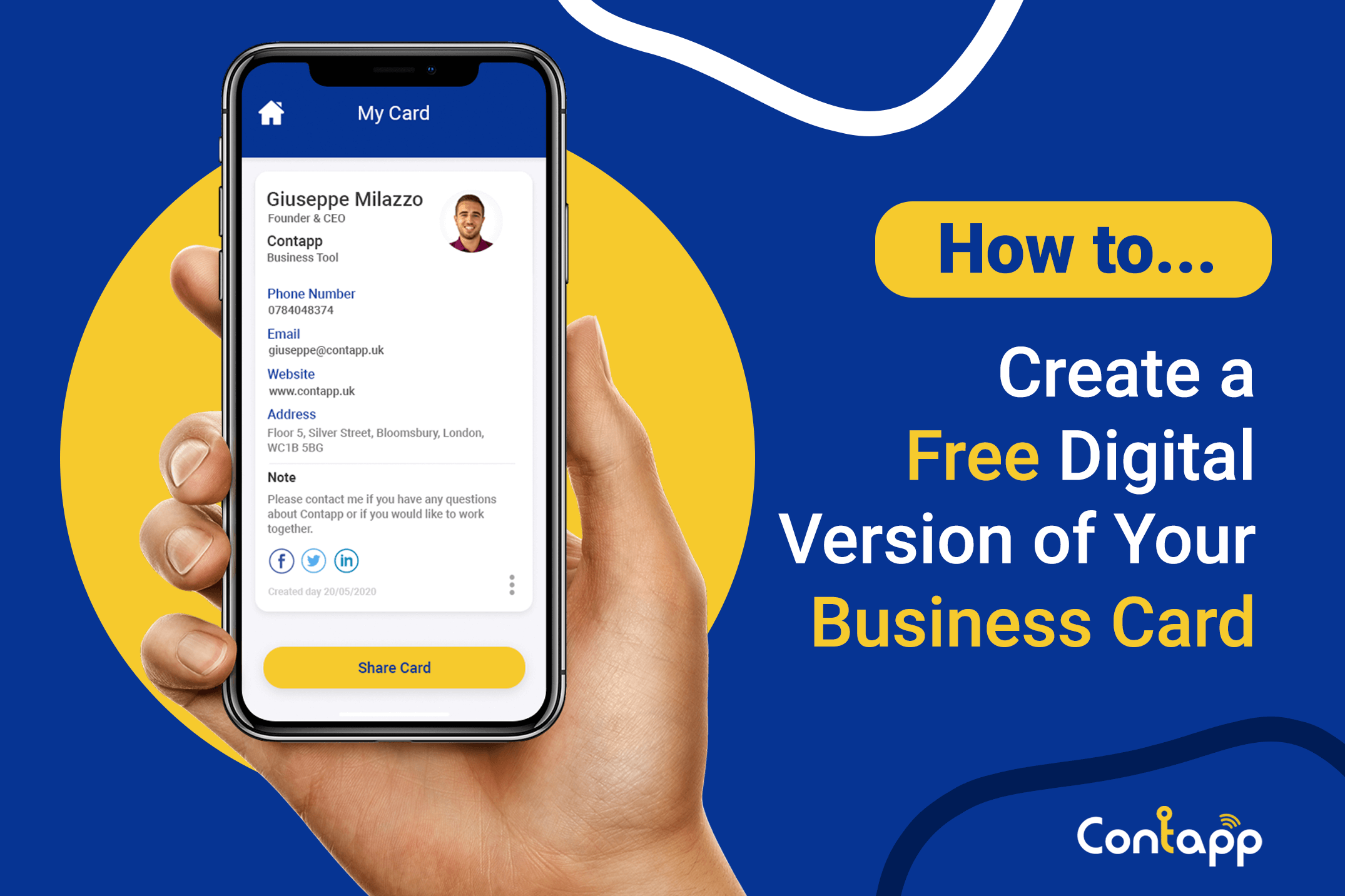 How to create a digital version of your business card for free